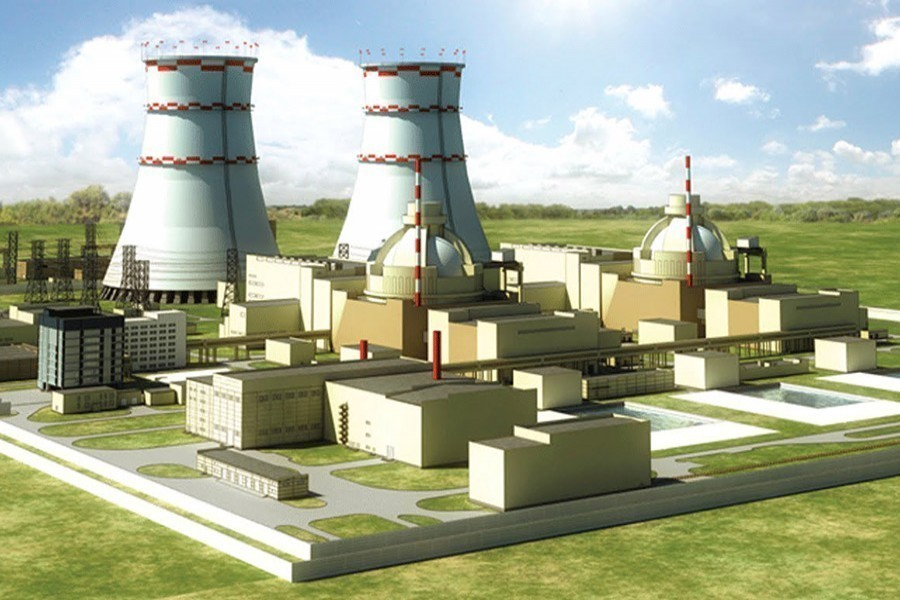 Artist's view of Rooppur nuclear power plant — Collected