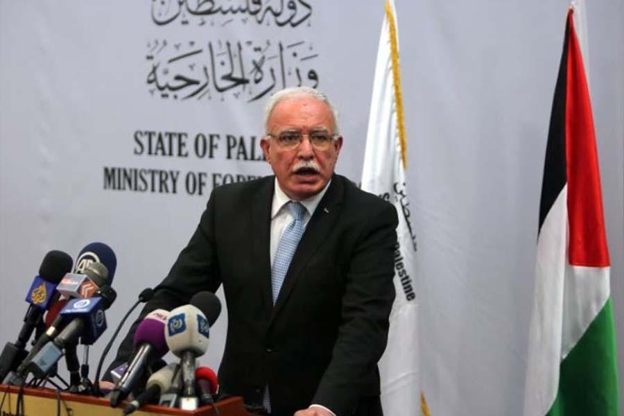 File photo of Palestinian Foreign Minister Riyad al-Maliki