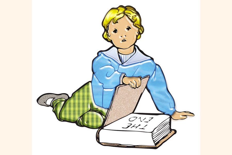 Reading helps child's imagination soar