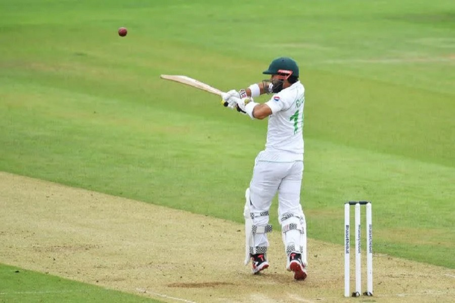 Cricket - Second Test - England v Pakistan - Ageas Bowl, Southampton, Britain - August 14, 2020 Pakistan's Mohammad Rizwan in action, as play resumes behind closed doors following the outbreak of the coronavirus disease (Covid-19) Glyn Kirk/Pool via Reuters