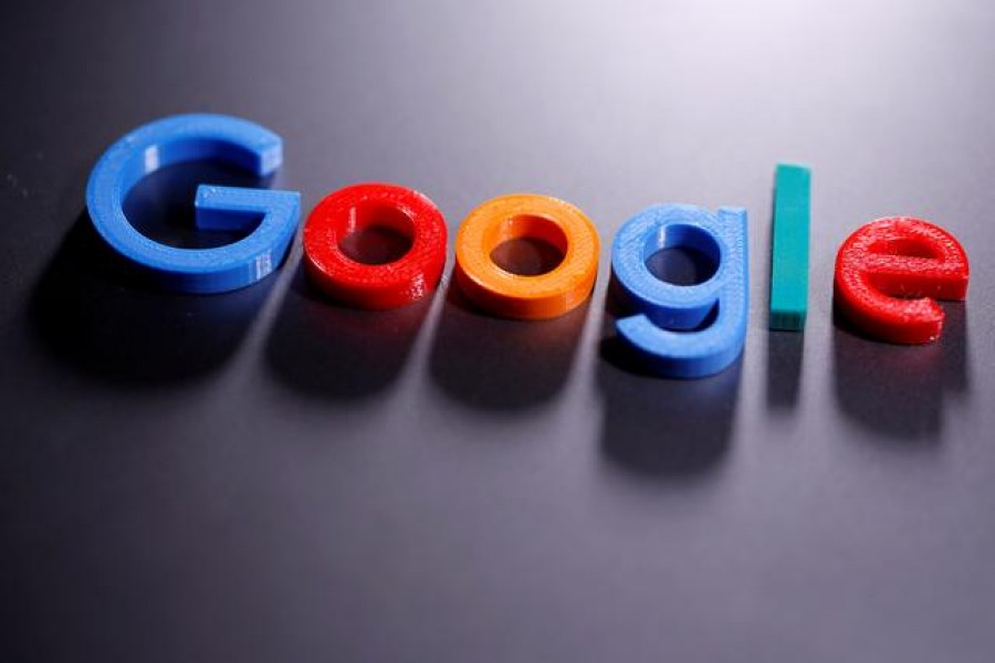 A 3D printed Google logo is seen in this illustration taken April 12, 2020 — Reuters/Illustration/Files