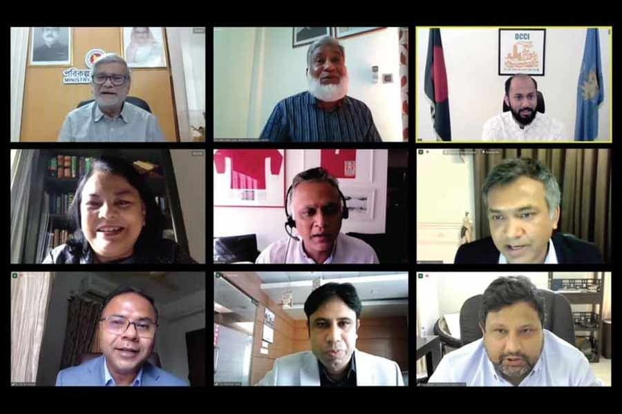 Business leaders and experts at a virtual seminar organised by Economic Reporters' Forum (ERF)