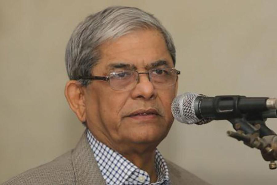 Khaleda's health condition improving slowly, says Fakhrul