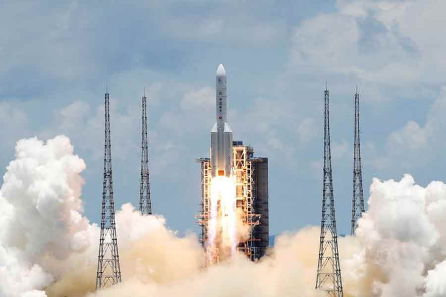 The Long March 5 Y-4 rocket, carrying an unmanned Mars probe of the Tianwen-1 mission, taking off from Wenchang Space Launch Centre in Hainan Province of China last year –Reuters file photo