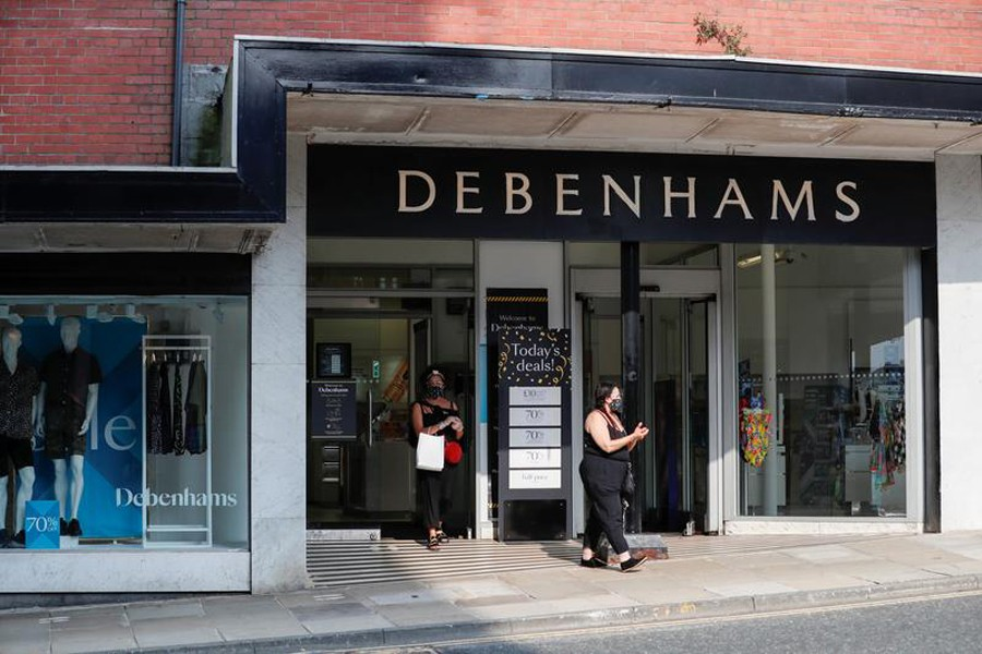 A Debenhams store is pictured, following the outbreak of the coronavirus disease (COVID-19) in Harrogate of Britain last year –Reuters file photo