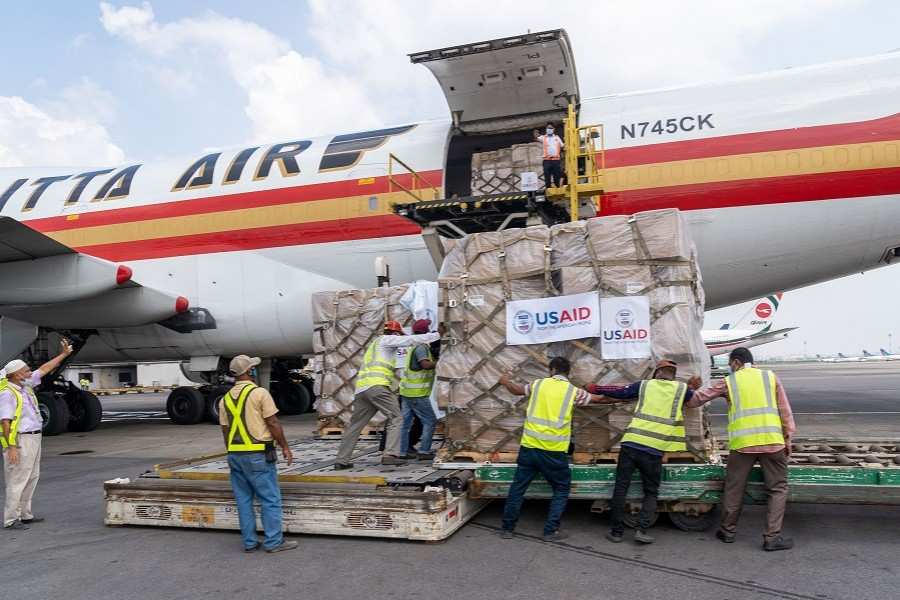 US delivers second shipment of emergency medical supplies