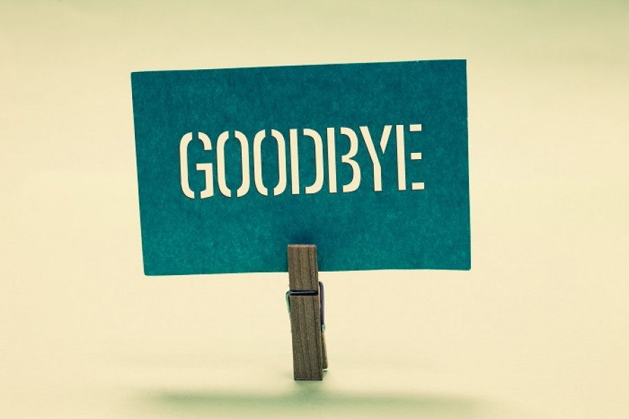 Saying goodbye, not with a heavy heart