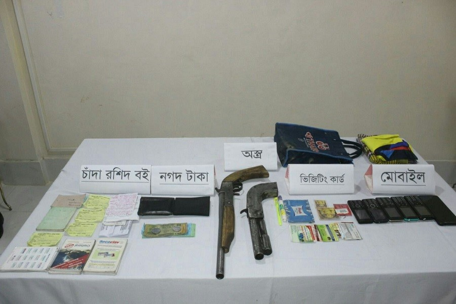 Army detains four armed extortionist from Khagrachhari