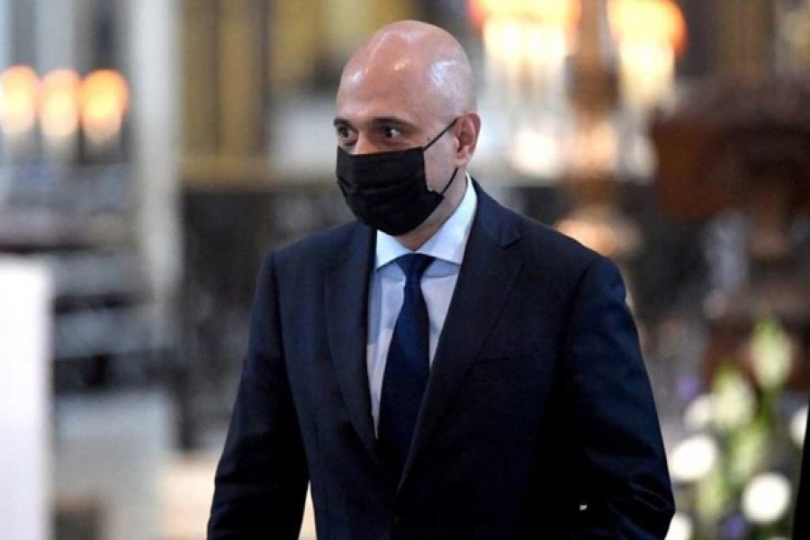 Britain's new Health Secretary Sajid Javid arrives for a thanksgiving service to celebrate the NHS' birthday, in St Paul's Cathedral in London, Britain, July 5, 2021. Stefan Rousseau/Pool via REUTERS