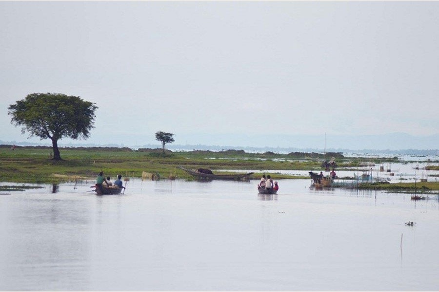 A partial view of the Hakaluki haor in Sylhet district — FE Photo