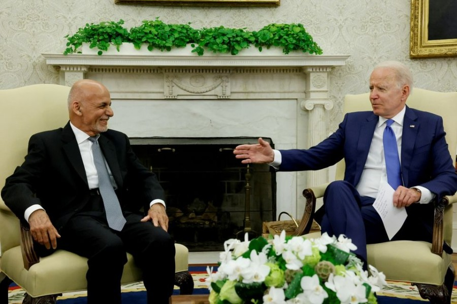 US President Joe Biden meets with Afghan President Ashraf Ghani at the White House, in Washington, US on June 25, 2021 — Reuters/Files