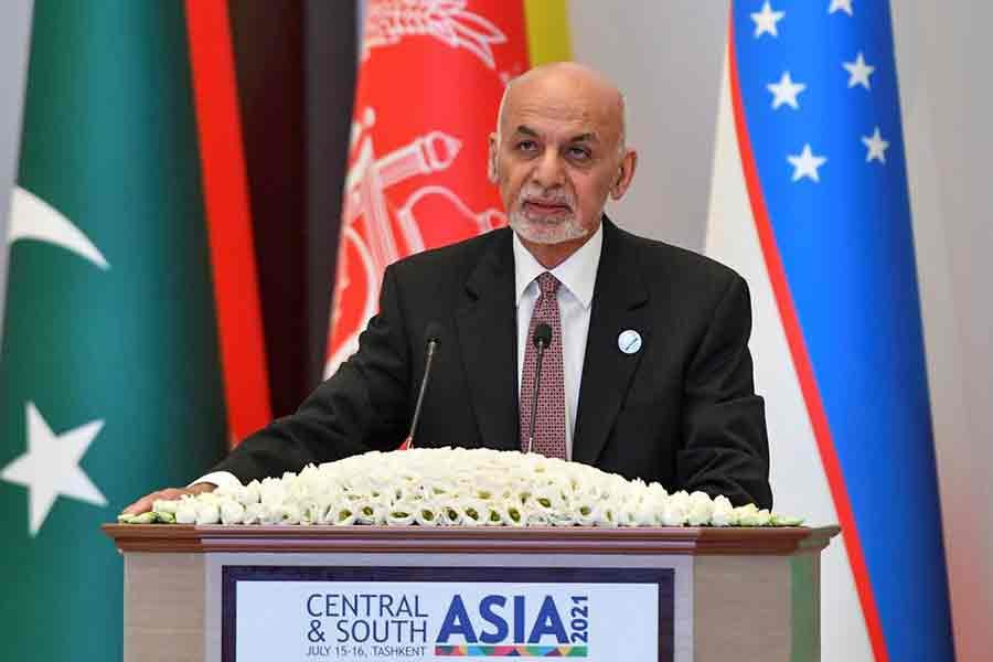 Afghanistan's President Ashraf Ghani attends Central-South Asia trade Summit in Uzbekistan on July 16 -Reuters file photo